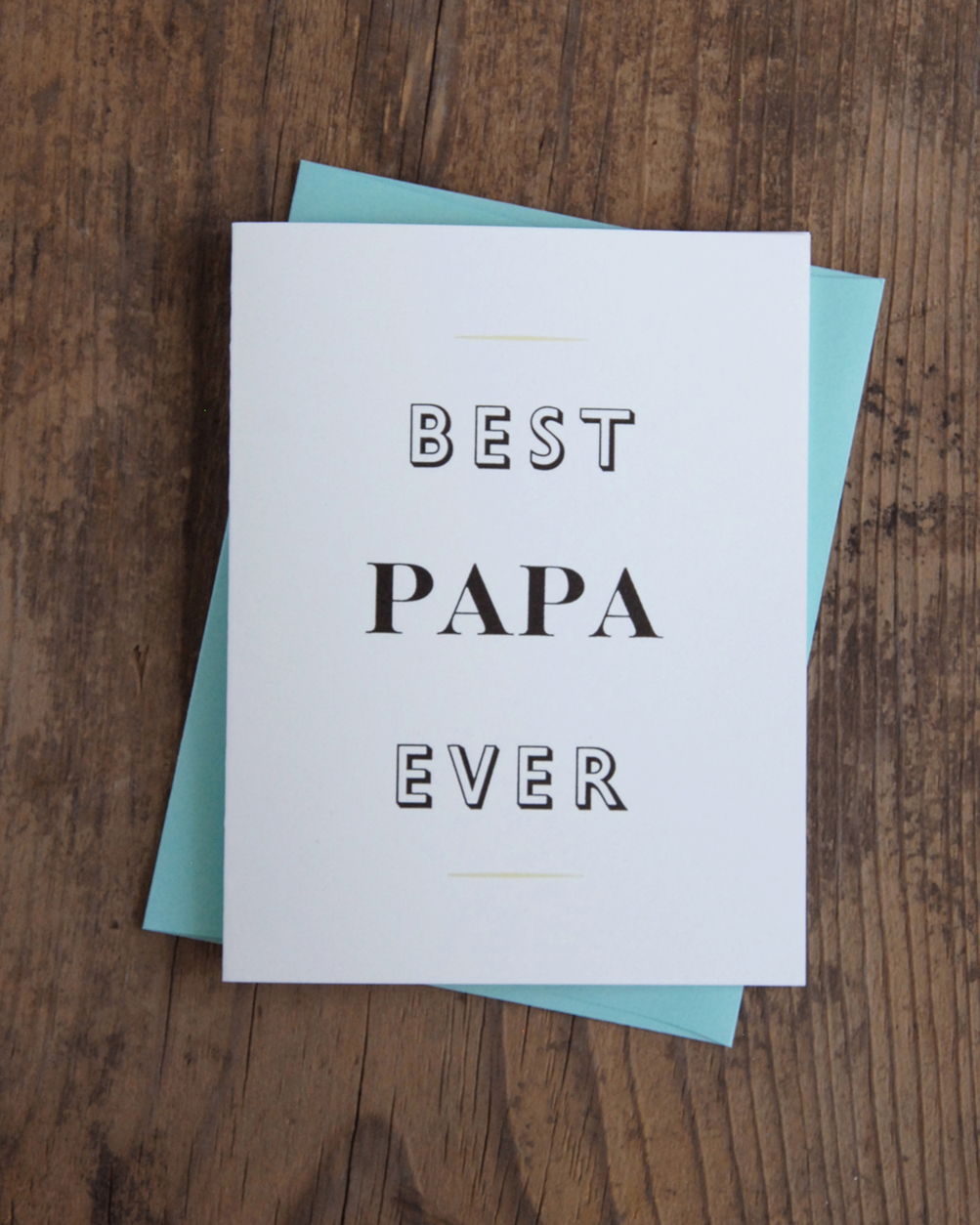 Best papa ever letterpress greeting card iron leaf press home greeting cards mom dad best papa ever letterpress greeting card kristyandbryce Choice Image