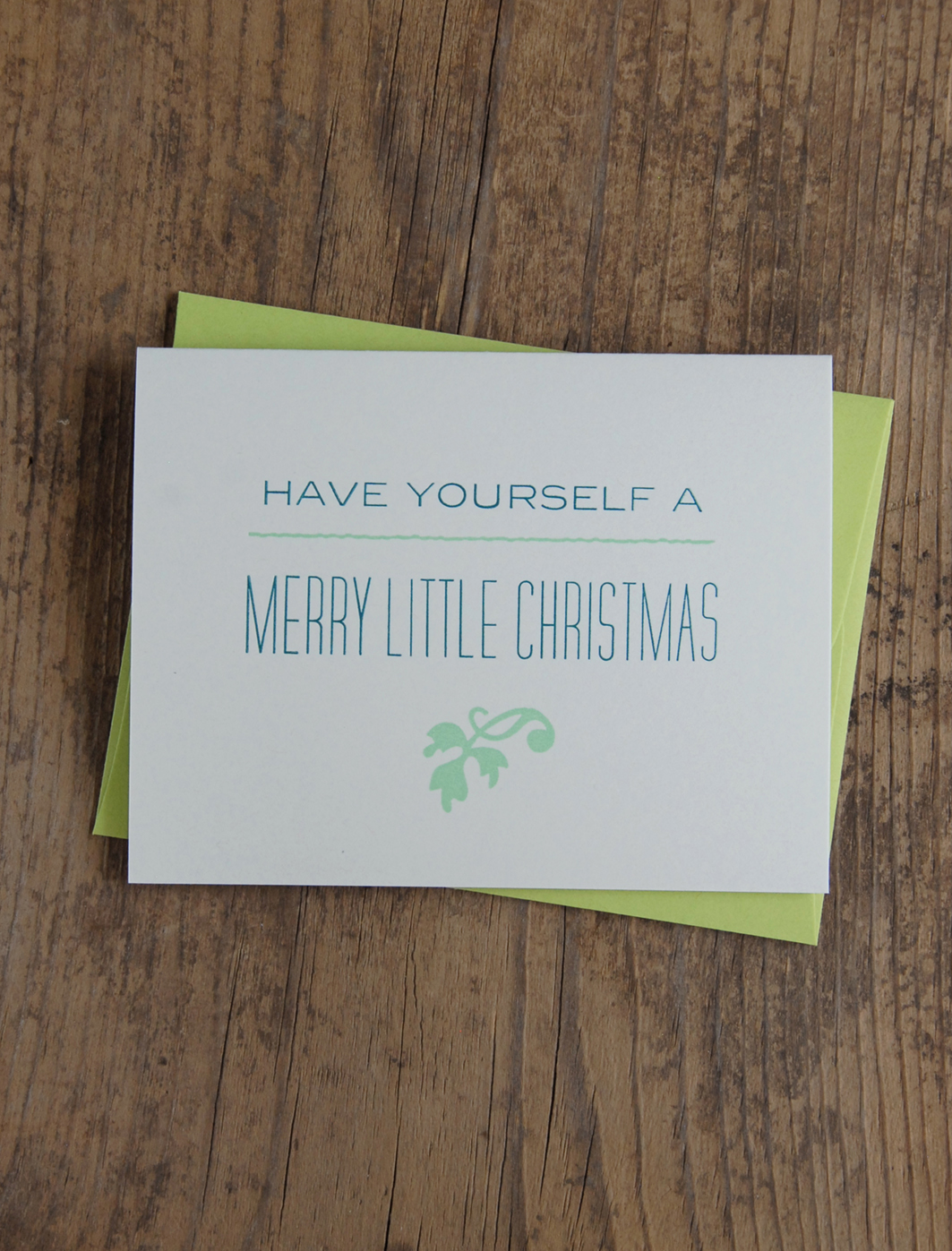 Have Yourself a Merry Little Christmas | Letterpress Greeting Card ...