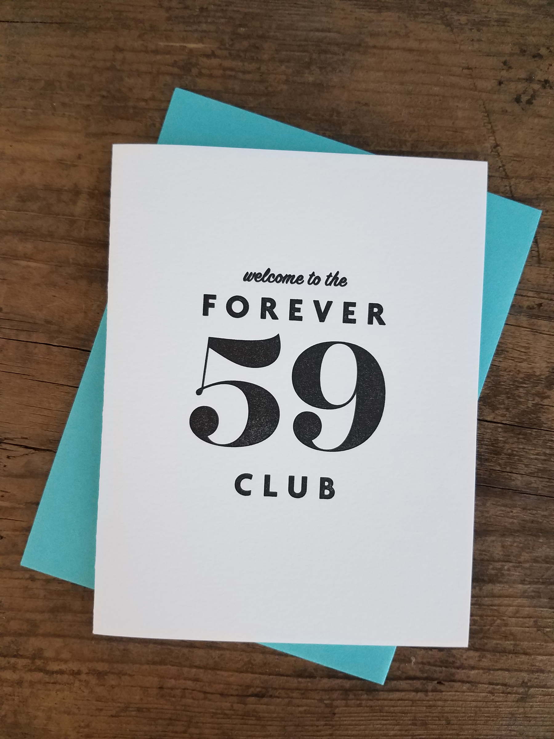 Welcome To The Forever 59 Club