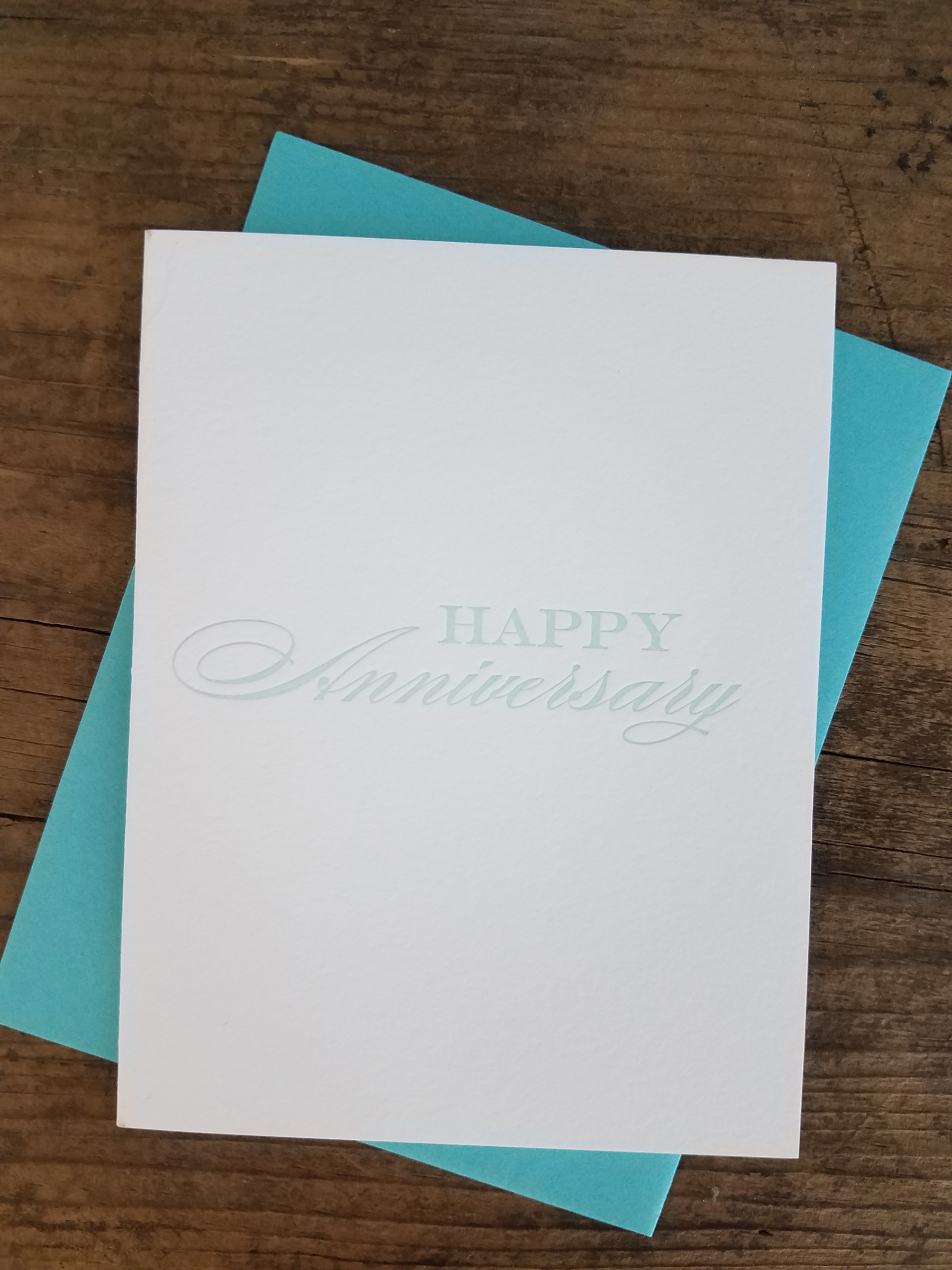 Happy Anniversary Letterpress Greeting Card Iron Leaf Press
