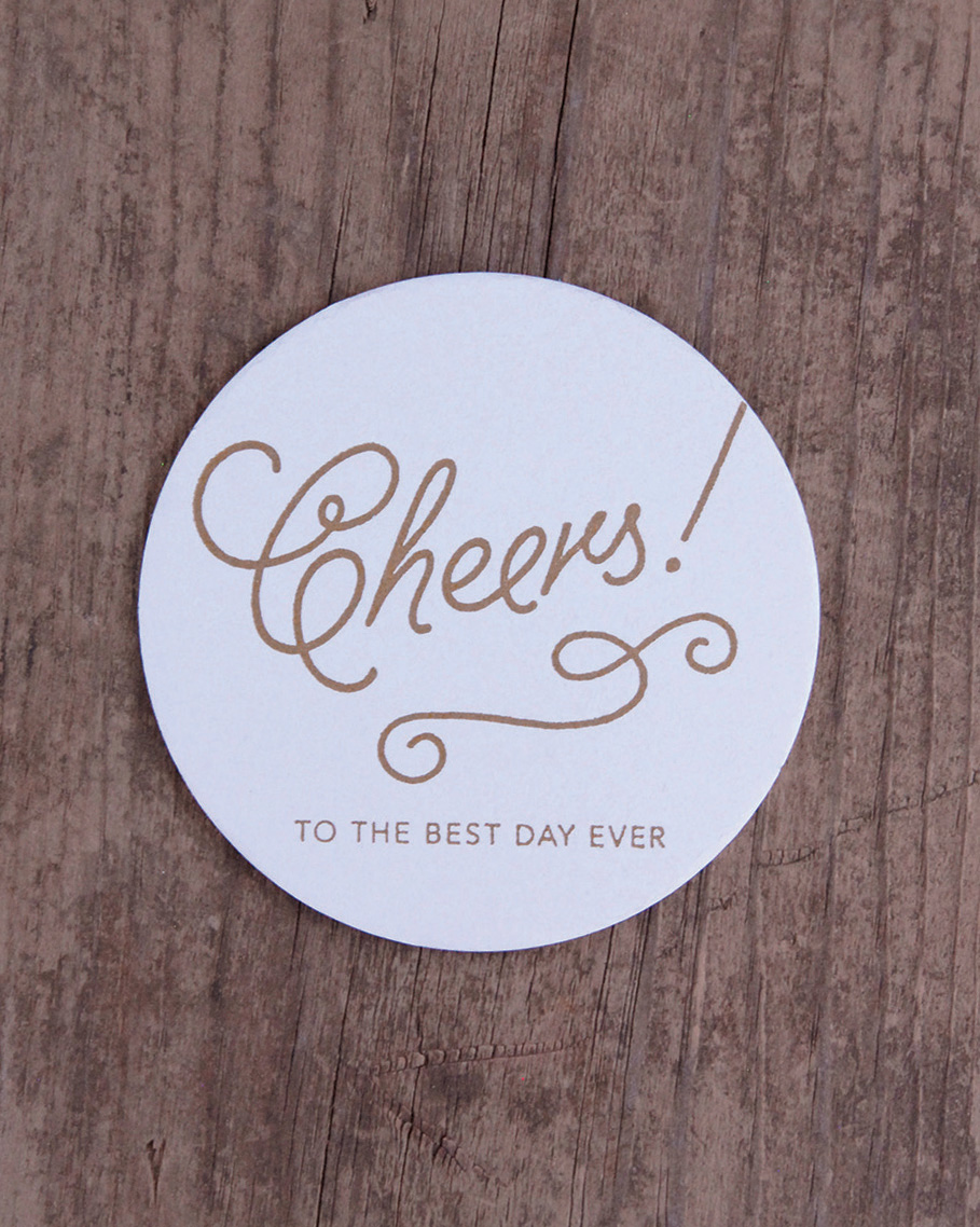 Coaster Set Of 10 Cheers To The Best Day Ever Iron Leaf Press