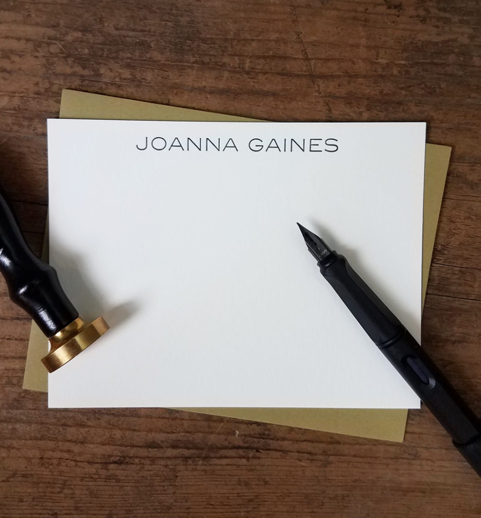 Joanna Gaines Stationery by Iron Leaf Press