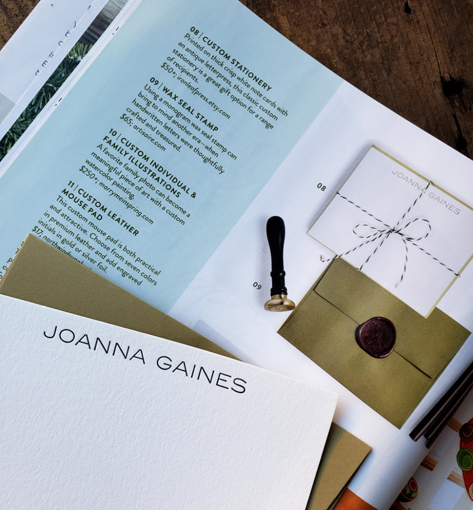 Joanna Gaines Stationery Printed by Iron Leaf Press